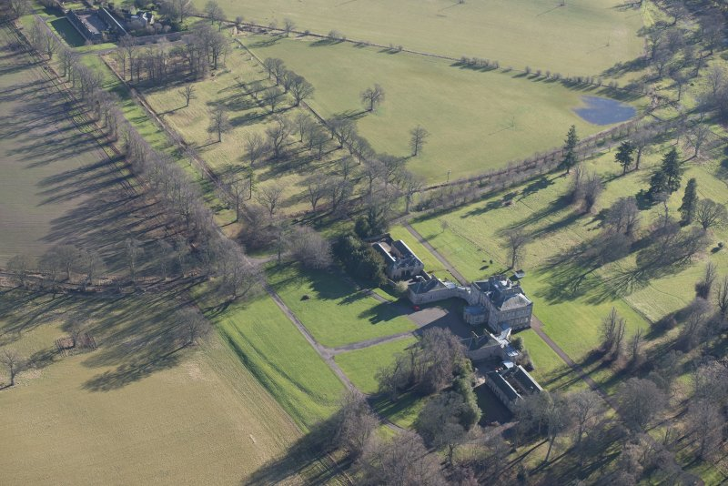 Oblique aerial view of Arniston House, looking ESE.