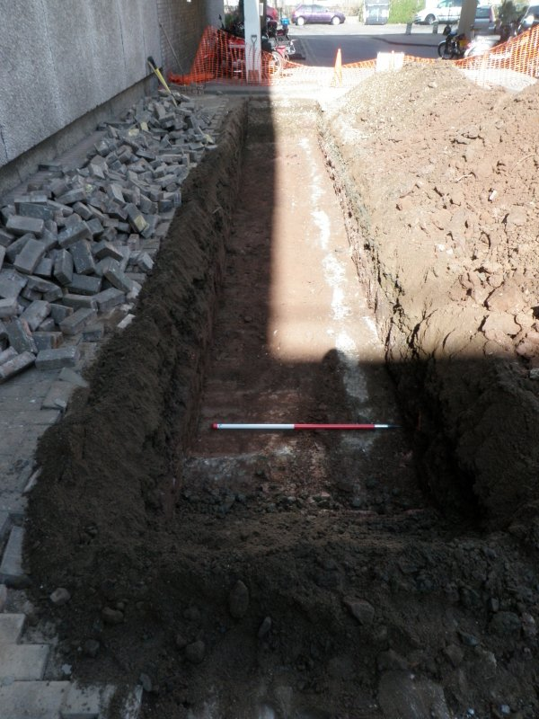 Trench 1 - record image, photograph from archaeological evaluation at Edinburgh Napier University, Merchiston Campus