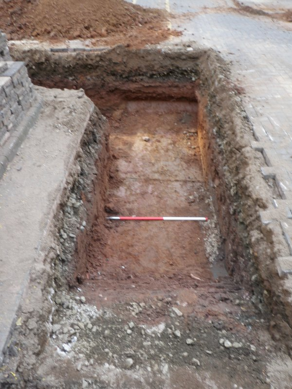 Trench 2 - northern arm, photograph from archaeological evaluation at Edinburgh Napier University, Merchiston Campus
