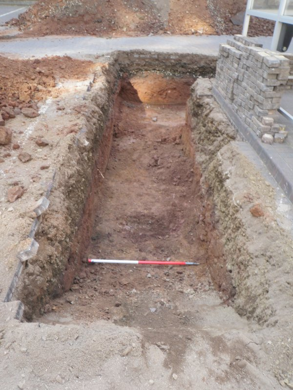 Trench 2 - eastern arm, photograph from archaeological evaluation at Edinburgh Napier University, Merchiston Campus