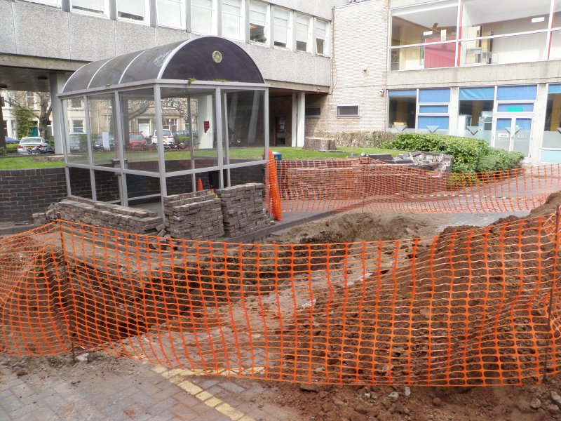 General view, photograph from archaeological evaluation at Edinburgh Napier University, Merchiston Campus