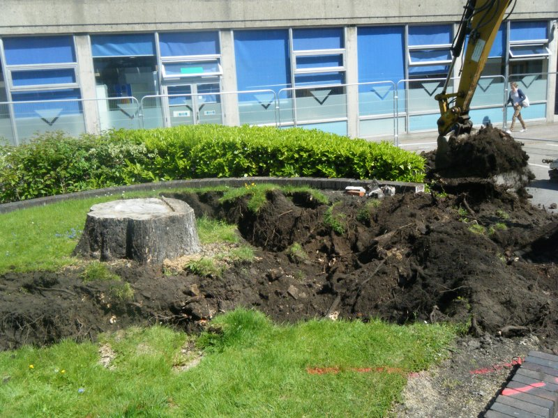 Working image, photograph from archaeological evaluation at Edinburgh Napier University, Merchiston Campus