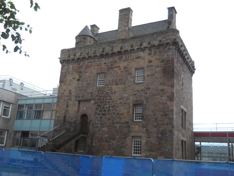 View of Merchiston castle, photograph from archaeological evaluation at Edinburgh Napier University, Merchiston Campus