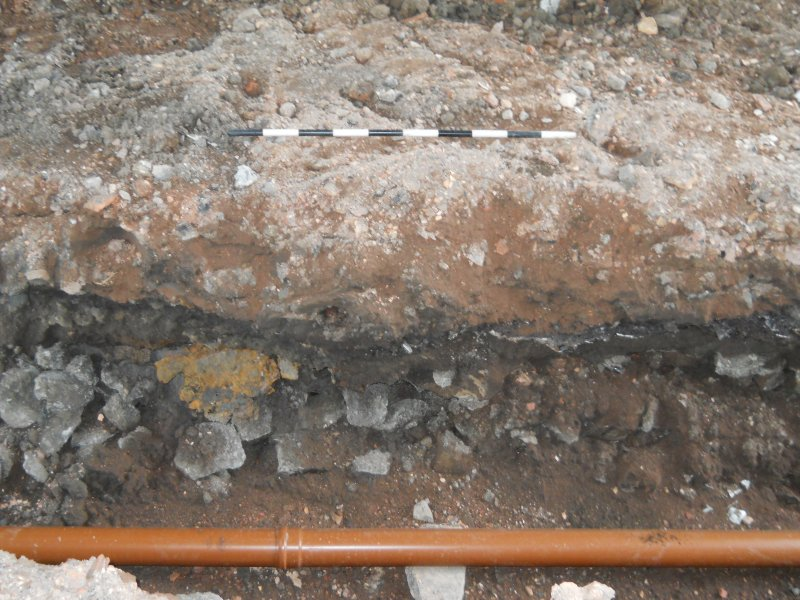 Photograph from archaeological evaluation at Edinburgh Napier University, Merchiston Campus