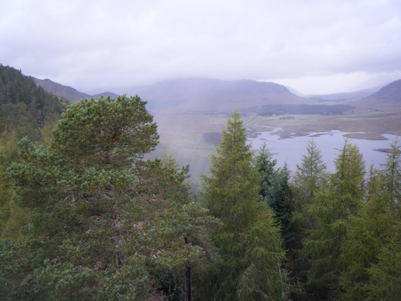View towards the River Spey from the fort, photograph of Dun da Lamh, from a topographic archaeological survey at five Pictish Forts in the Highlands