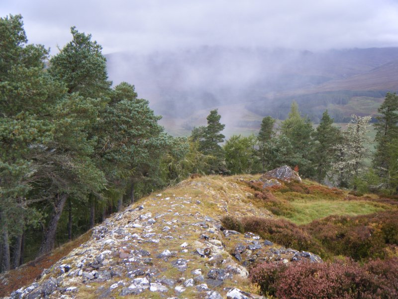 View towards north west corner of fort, photograph of Dun da Lamh, from a topographic archaeological survey at five Pictish Forts in the Highlands