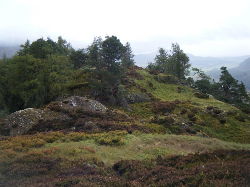 View towards north east end of fort, photograph of Dun da Lamh, from a topographic archaeological survey at five Pictish Forts in the Highlands