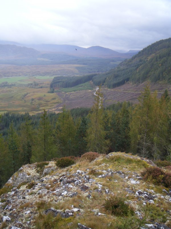 View towards Strath Mashie from south corner of fort, photograph of Dun da Lamh, from a topographic archaeological survey at five Pictish Forts in the Highlands