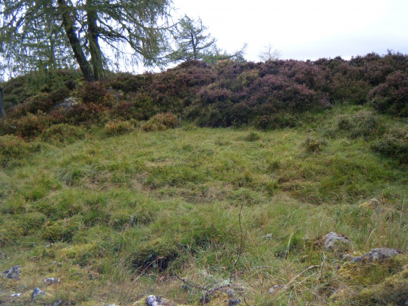 Platform just inside north rampart, photograph of Dun da Lamh, from a topographic archaeological survey at five Pictish Forts in the Highlands