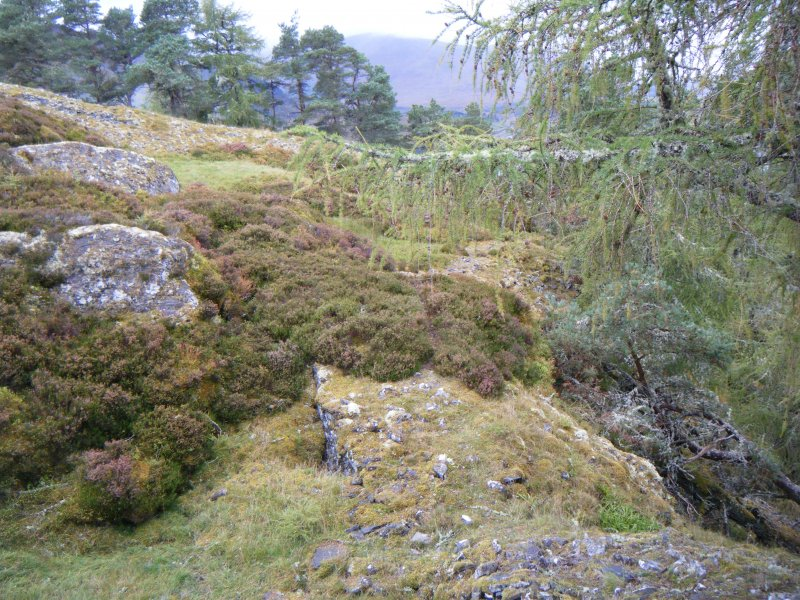 View towards possible entrance in the north rampart, photograph of Dun da Lamh, from a topographic archaeological survey at five Pictish Forts in the Highlands