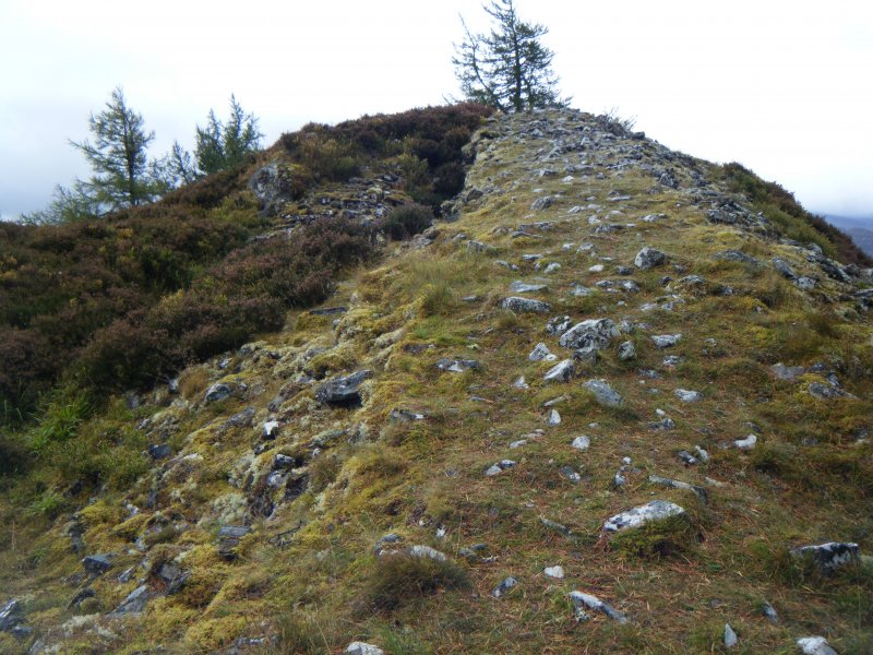 Photograph of Dun da Lamh, from a topographic archaeological survey at five Pictish Forts in the Highlands