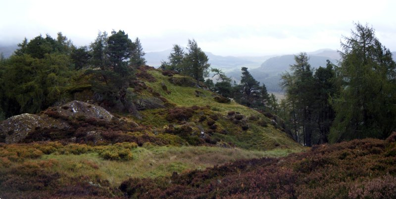 Panoramic view of fort interior, photograph of Dun da Lamh, from a topographic archaeological survey at five Pictish Forts in the Highlands