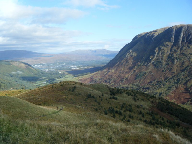 View towards Fort William from Dun Deardail, photograph from a topographic archaeological survey at five Pictish Forts in the Highlands