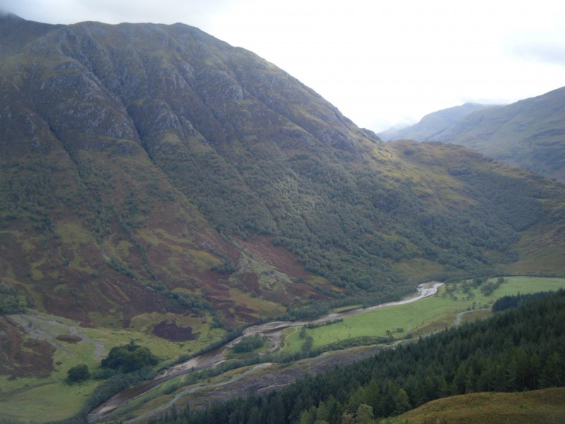 View towards Glen Nevis from Dun Deardail, from a topographic archaeological survey at five Pictish Forts in the Highlands