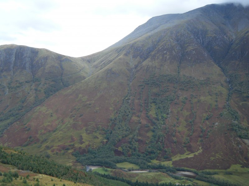 View towards north side of Ben Nevis from Dun Deardail, from a topographic archaeological survey at five Pictish Forts in the Highlands