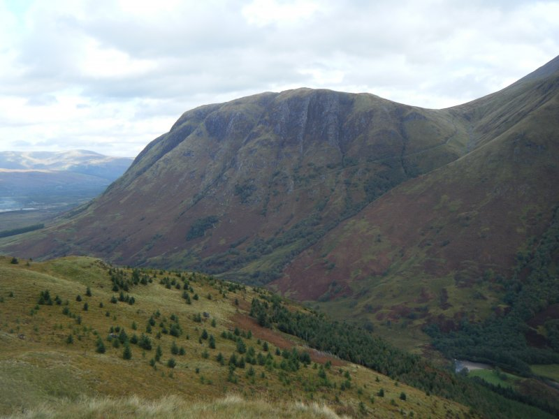 View towards Meall an t-Suidhe from Dun Deardail, from a topographic archaeological survey at five Pictish Forts in the Highlands