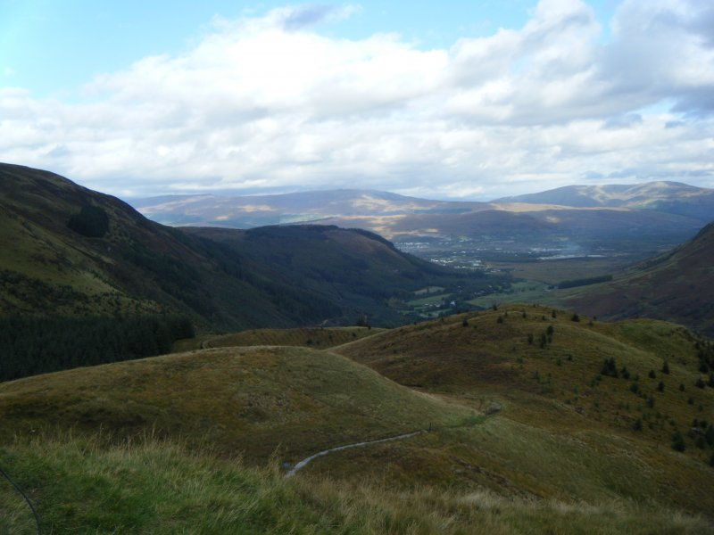 View towards Fort William from Dun Deardail, from a topographic archaeological survey at five Pictish Forts in the Highlands