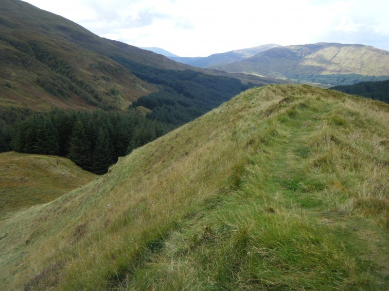 View along south rampart of Dun Deardail, from a topographic archaeological survey at five Pictish Forts in the Highlands