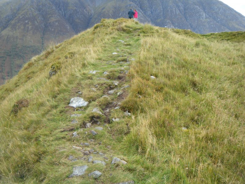 Small area of slight erosion on north rampart, photograph of Dun Deardail, from a topographic archaeological survey at five Pictish Forts in the Highlands