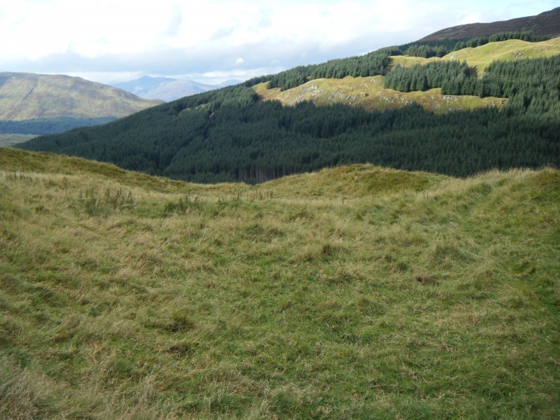 View of fort interior from the east, photograph of Dun Deardail, from a topographic archaeological survey at five Pictish Forts in the Highlands