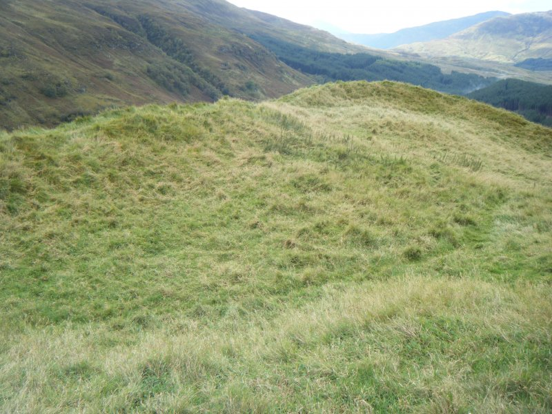View of fort interior from the north east, photograph of Dun Deardail, from a topographic archaeological survey at five Pictish Forts in the Highlands