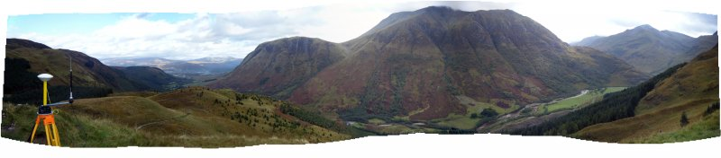Panoramic view towards Ben Nevis from the fort, photograph of Dun Deardail, from a topographic archaeological survey at five Pictish Forts in the Highlands