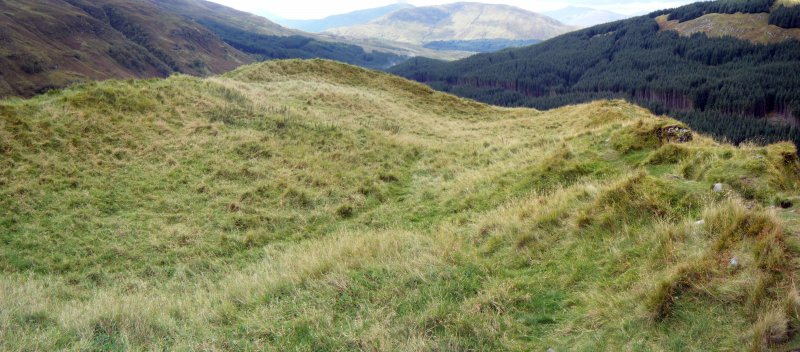 Dun Deardail, from a topographic archaeological survey at five Pictish Forts in the Highlands