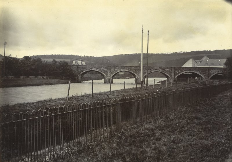 General view of Tweed Bridge, Peebles