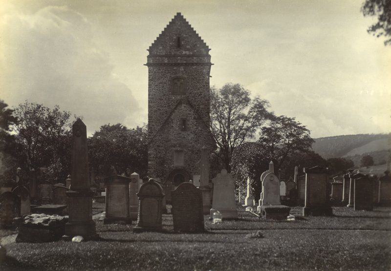 View of St Andrew's Church and burial ground, Peebles