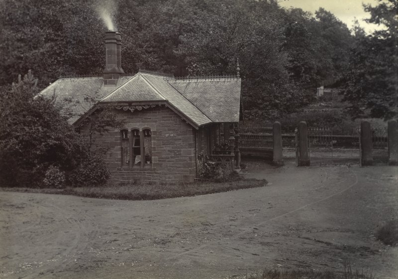 View of gate lodge, Peebles Hydro