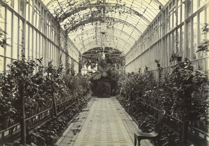 Interior view of conservatory, Peebles Hydro