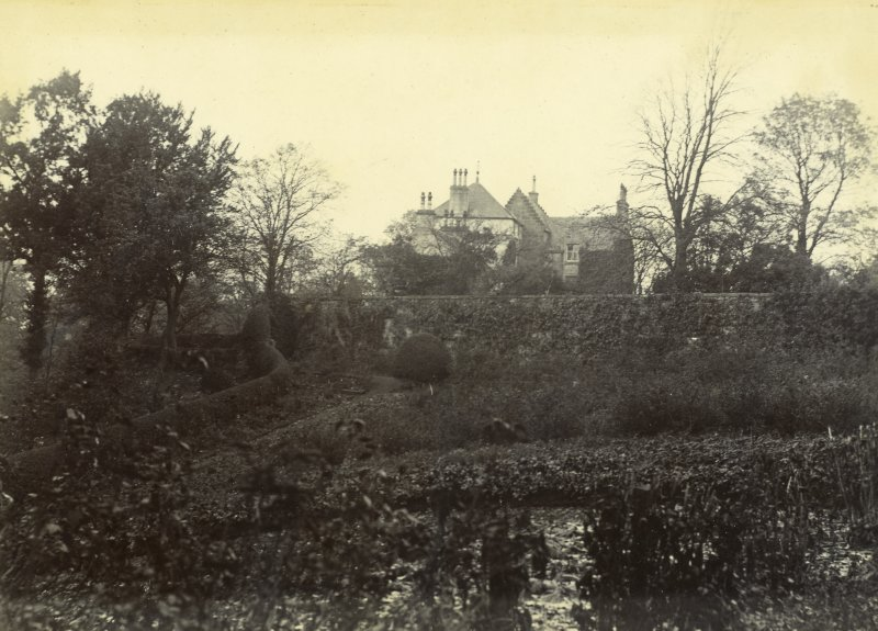 View of garden and house, The Peel, Busby.