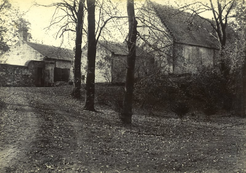 View from W of farmhouse and stables, The Peel, Busby