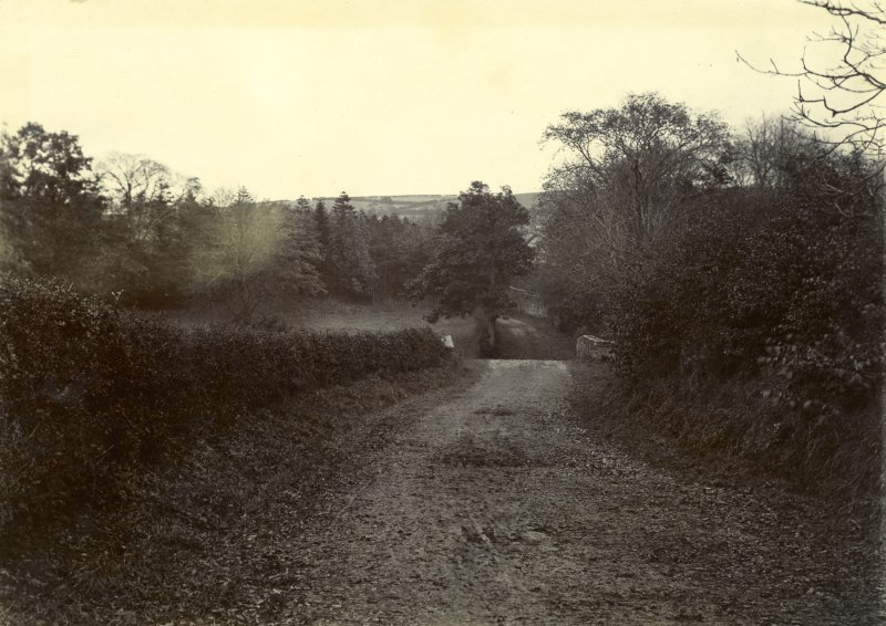 View of road, The Peel, Busby