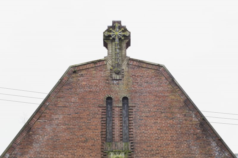 North front. Detail of gable.