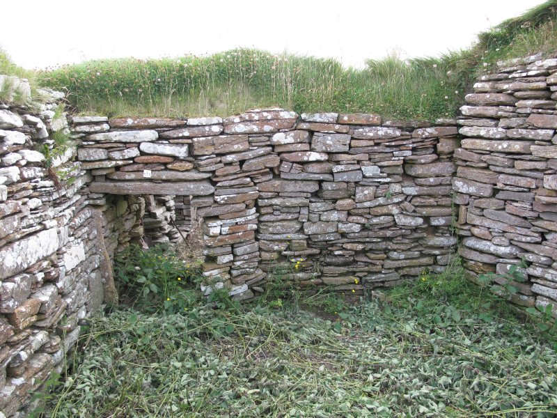 Outbuildings, principal range, middle room, east wall