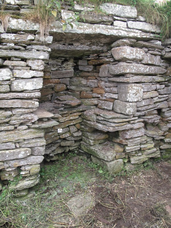 Outbuildings, principal range, E room, possible quern shelf