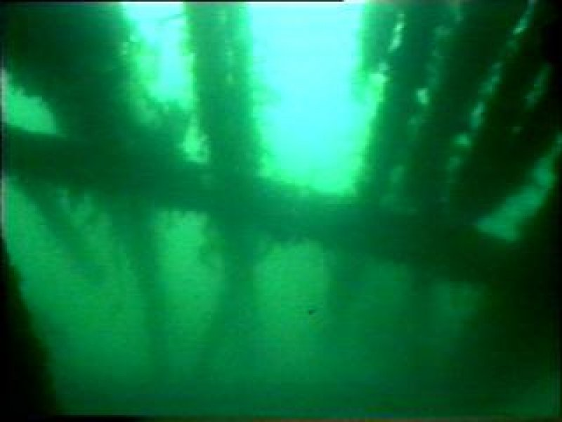 Diver photograph of HMS Breda deck structure