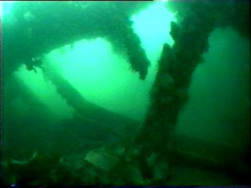Diver photograph of hull on HMS Breda