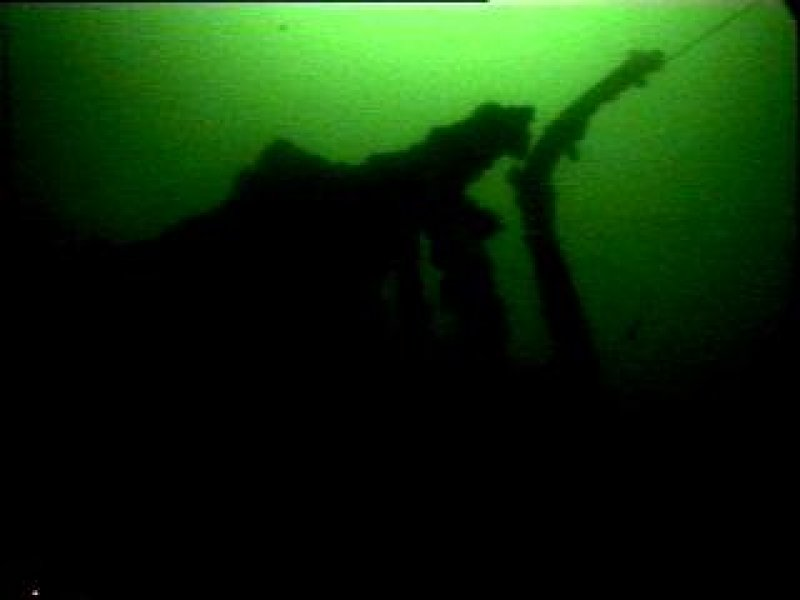 Diver photograph of bow on Kintyre steamship