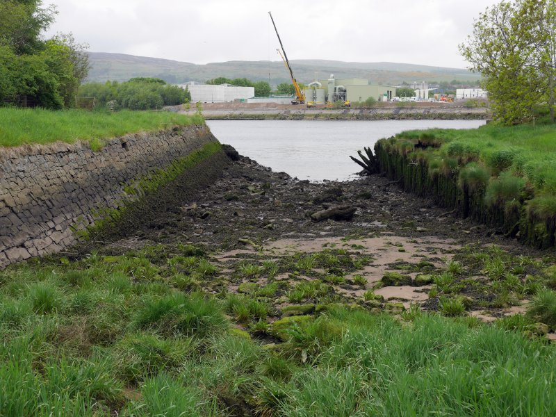 View of Park Quay from S, showing the slipway and side walls.