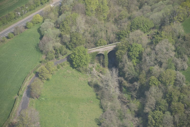 Oblique aerial view of Canderside Bridge, looking NNW.
