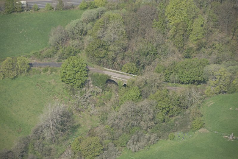 Oblique aerial view of Canderside Bridge, looking NW.