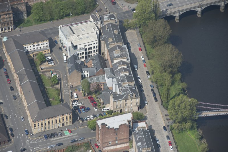 Oblique aerial view of Carlton Place, looking WNW.