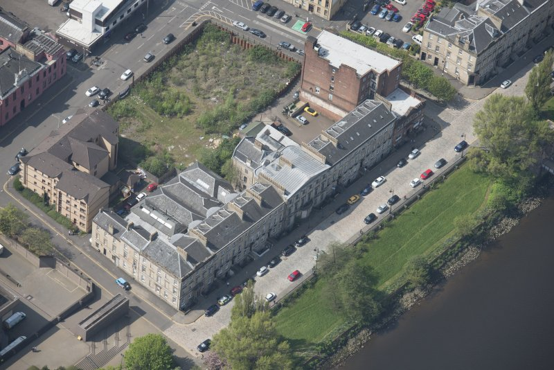 Oblique aerial view of Carlton Place, looking WSW.