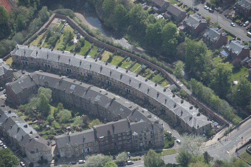 Oblique aerial view of Millbrae Crescent, looking SSE.