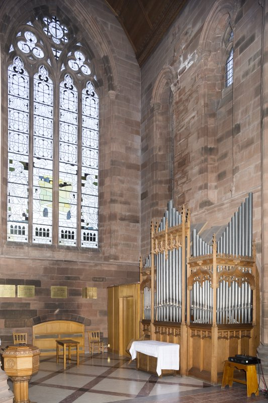 General view of organ in North transept.