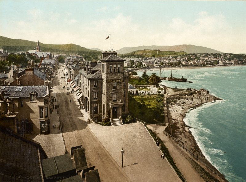 View of Dunoon showing the Argyll Hotel and the shore.