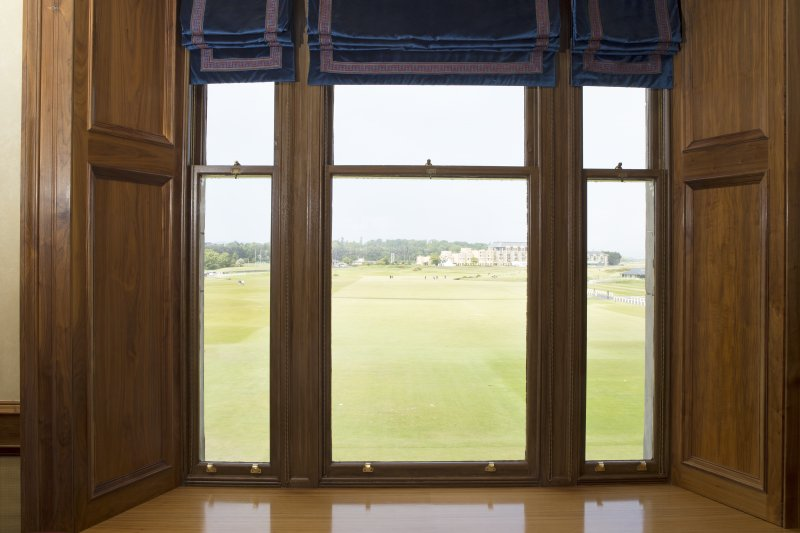 1st floor. View looking through the dining room window onto the golf course.