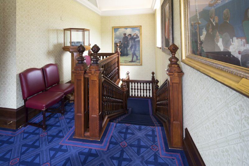 1st floor. View of dining room stair.